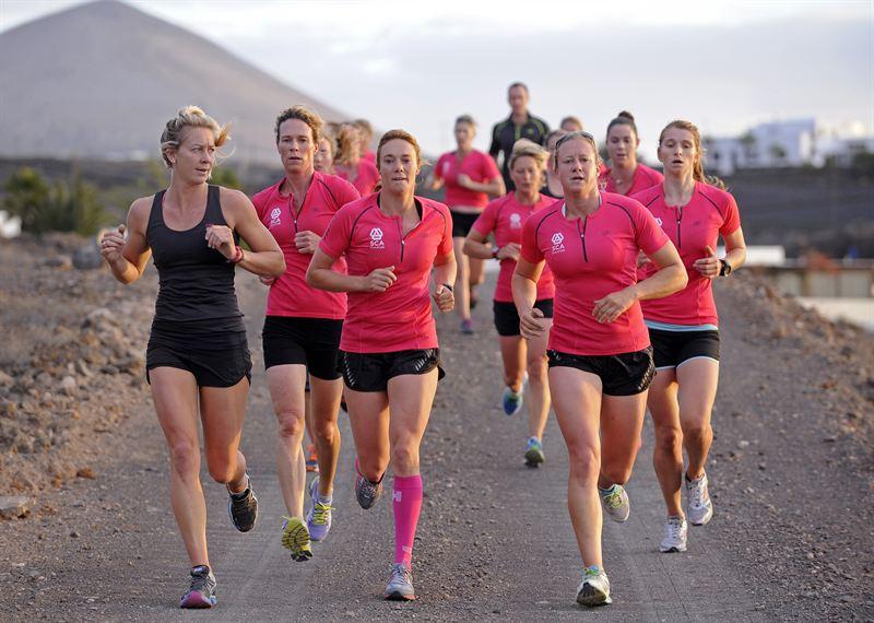 L'equipaggio di Team SCA in allenamento a Lanzarote. Foto Team SCA