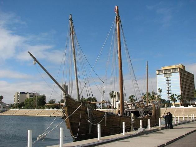 La Nina ormeggiata nella piccola città di Corpus Christi, in Texas. A breve sarà nuovamente pronta a navigare dopo un lungo lavoro di restauro durato più di tre anni
