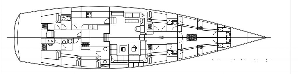Il layout degli interni mostra chiaramente l'impostazione del Comet 85 destinato alla formazione dei giovani allievi della Guardia Costiera