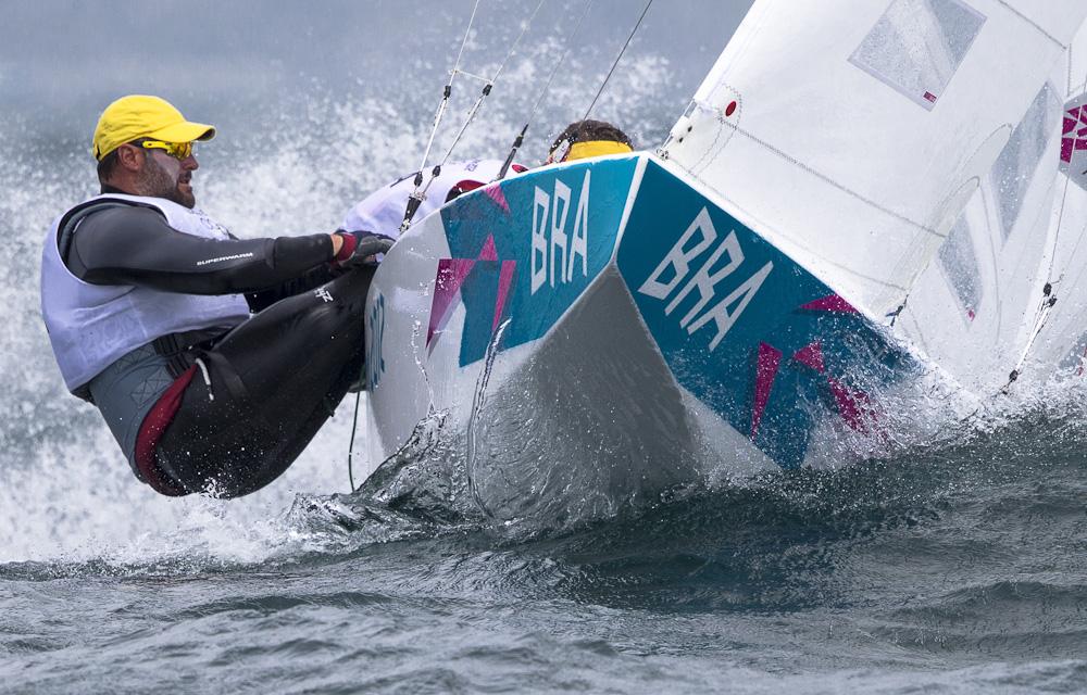 Scheidt-Prada in regata a Weymouth 2012. Non sarà questa l'ultima Olimpiade della Star? Foto Borlenghi