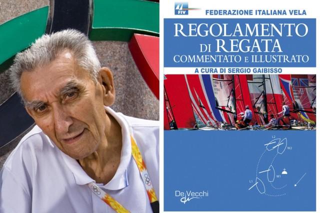 Sergio Gaibisso con il Regolamento di Regata da lui commentato