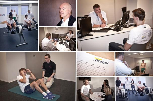 Un collage fotografico dei test equipaggio di Team Brunel condotti da Bouwe Bekking