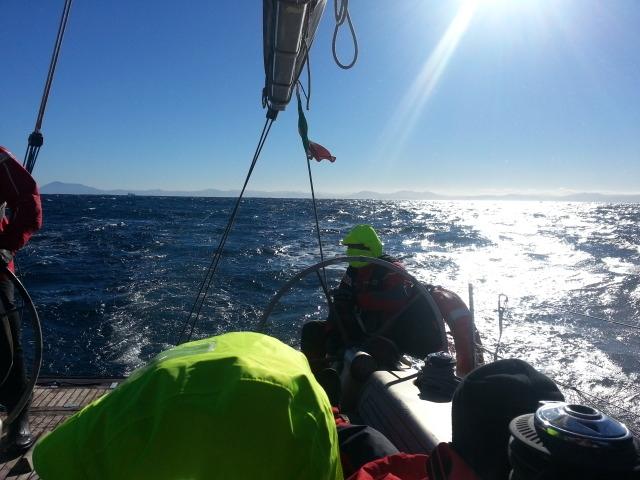Il 14 metri Sampei in navigazione