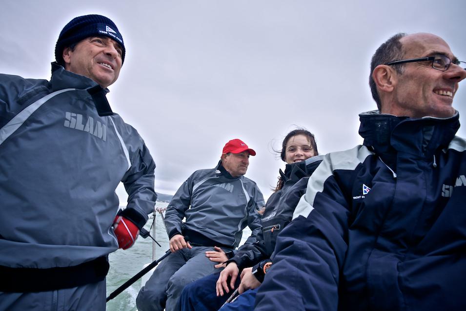 Filippo Molinari a bordo di uno dei team partecipanti al clinic. Foto Cutini Costa