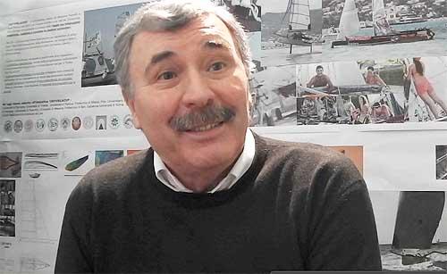 L'Architetto Massimo Paperini, ideatore con paolo Procesi della Mille e Una Vela per l'Università