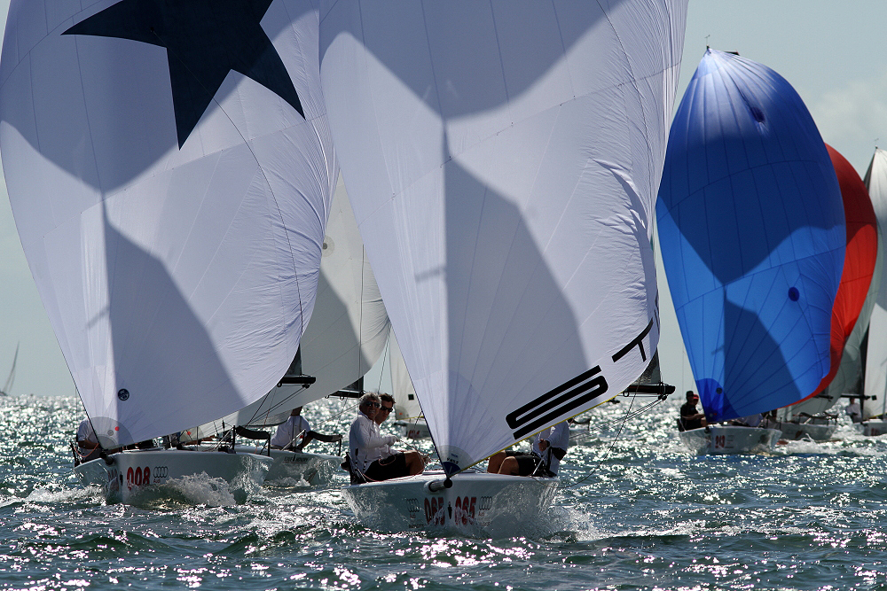 Stin in regata a Miami. Foto Dunigan