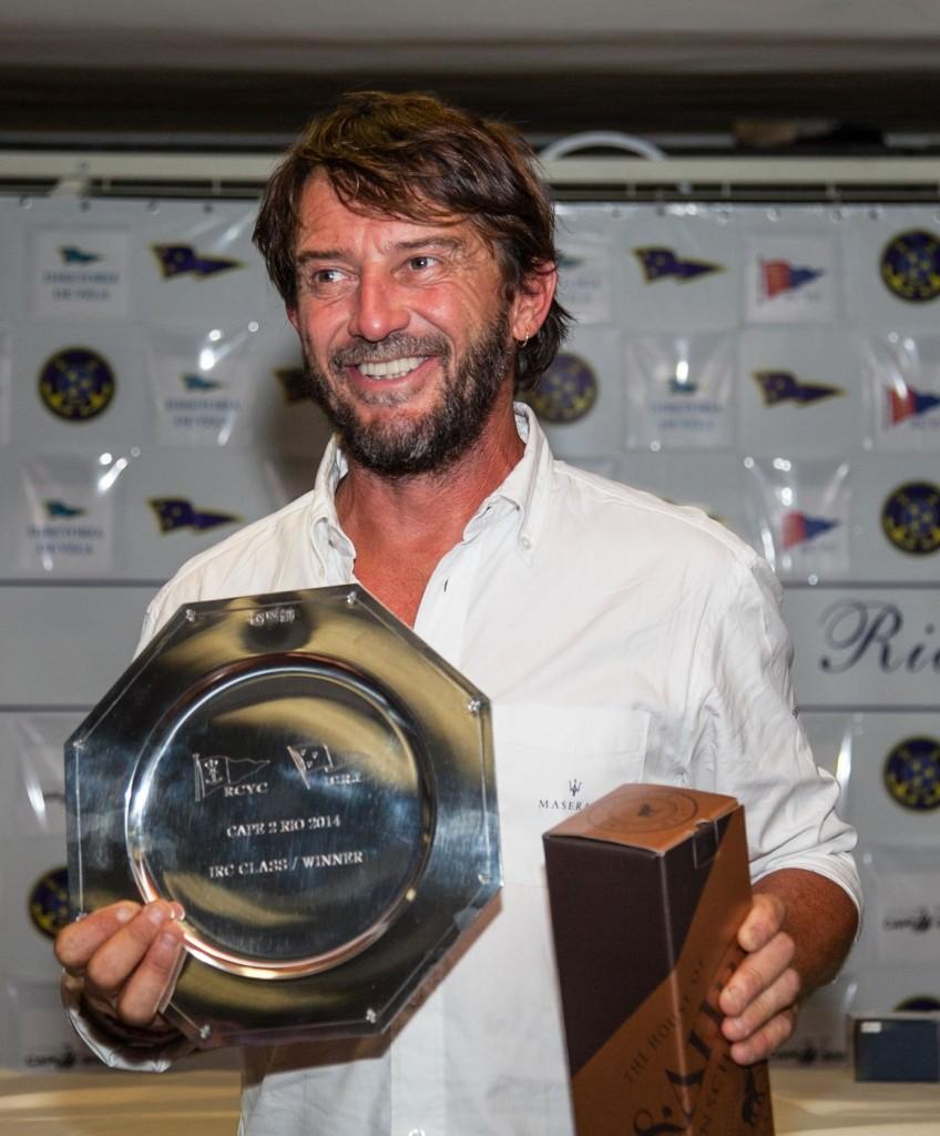 Giovanni Soldini alla premiazione