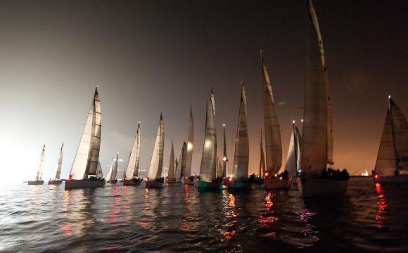 La partenza notturna della Tre Golfi