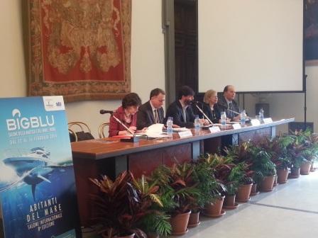 Un momento della conferenza stampa di presentazione dell'VIII edizione del Big Blu, in programma dal 12 al 16 febbraio alla Fiera di Roma