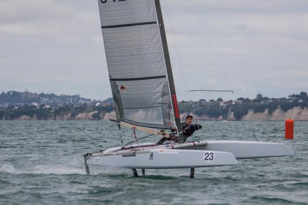 Ray Davies (Team NZL) in foiling