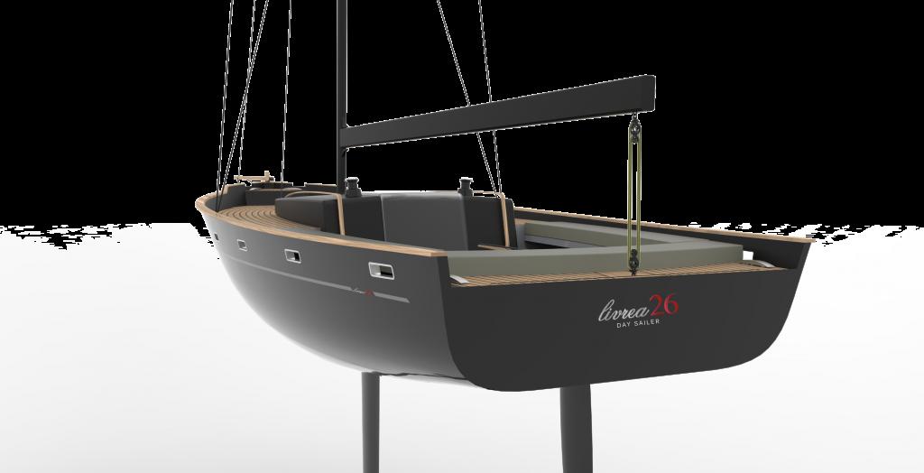 YAM-Marine Technology e Daniele Cevola Design Studio hanno progettato un daysailer moderno, dalle linee morbide e senza esasperazioni, e che fosse prima di tutto semplioce da condurre anche ida una sola persona