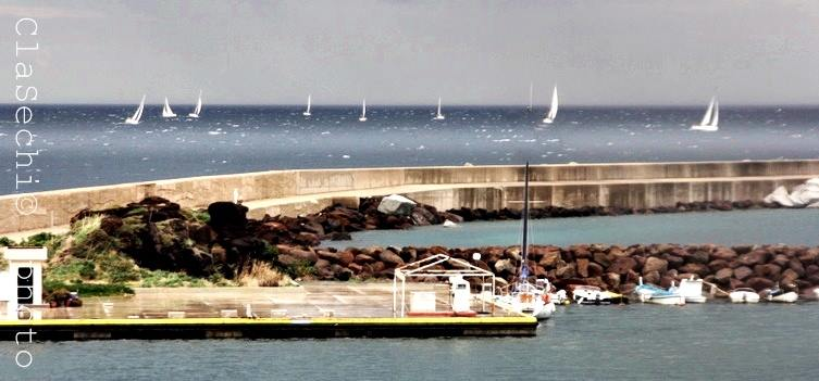 Barche in acqua a Castelsardo
