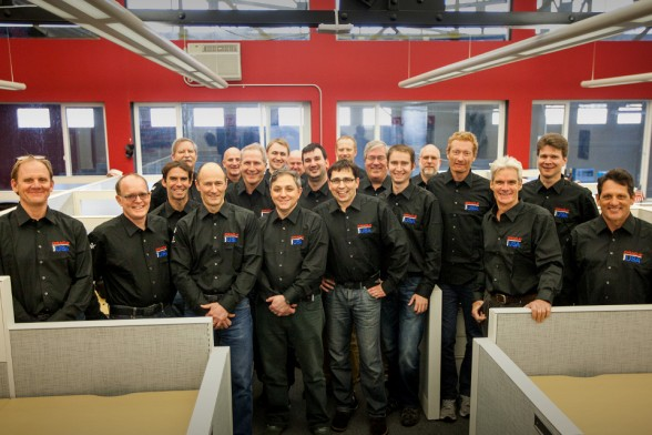 Il design team di Oracle Team USA. Foto Ross