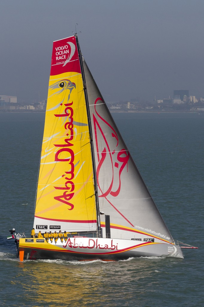 Azzam in navigazione ieri nel Solent