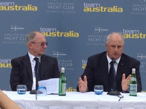 Iain Murray (a destra) durante la presentazione di Team Australia