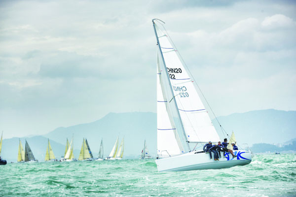 Il Fareast 26 in regata