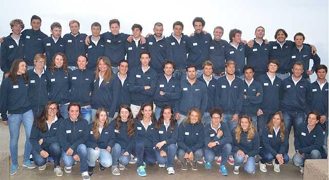 La squadra italiana a palma. Foto Ufficio Stampa Federazione Italiana Vela