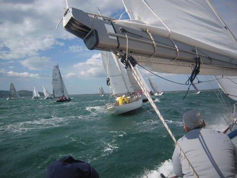 La partenza della regata con forte Grecale