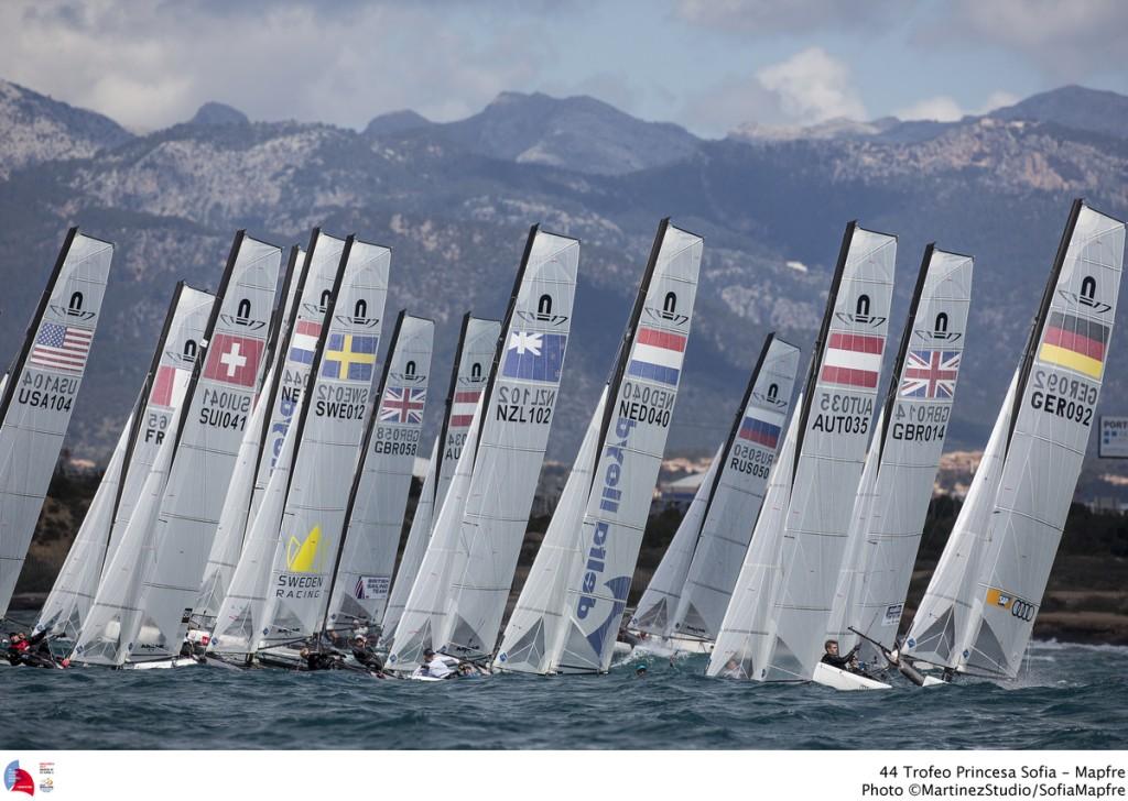 La flotta dei Nacra 17 a Palma