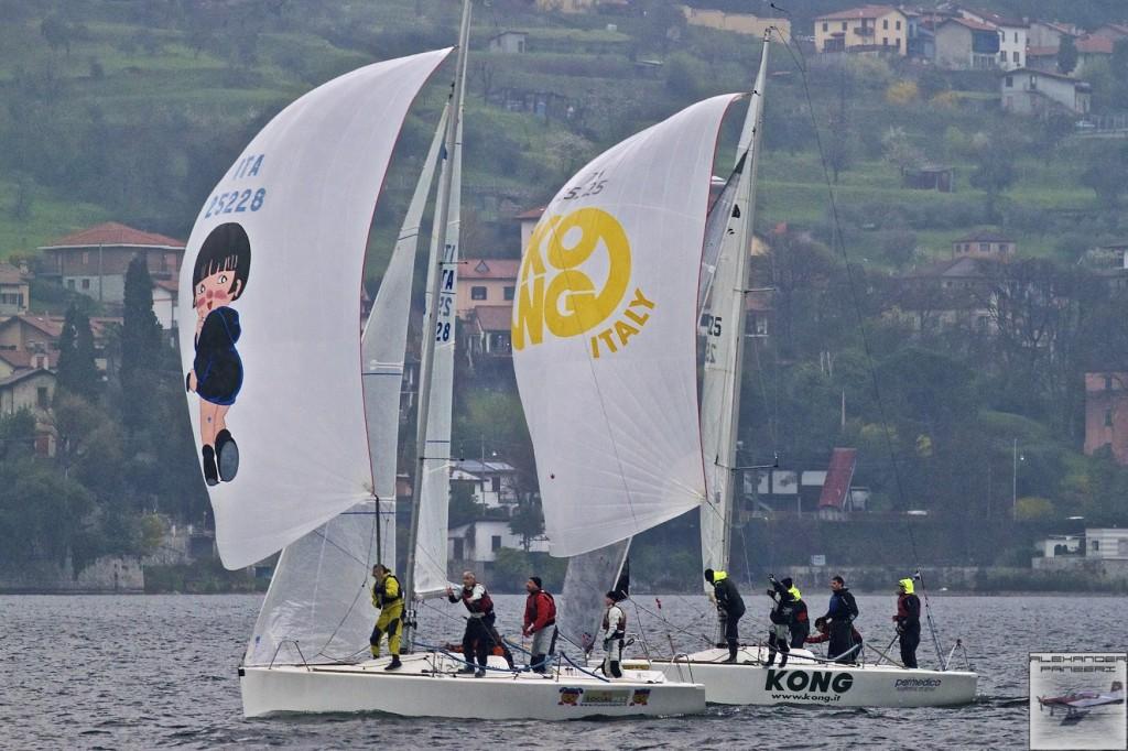 Platu 25 in regata a Mandello. Foto Panzeri