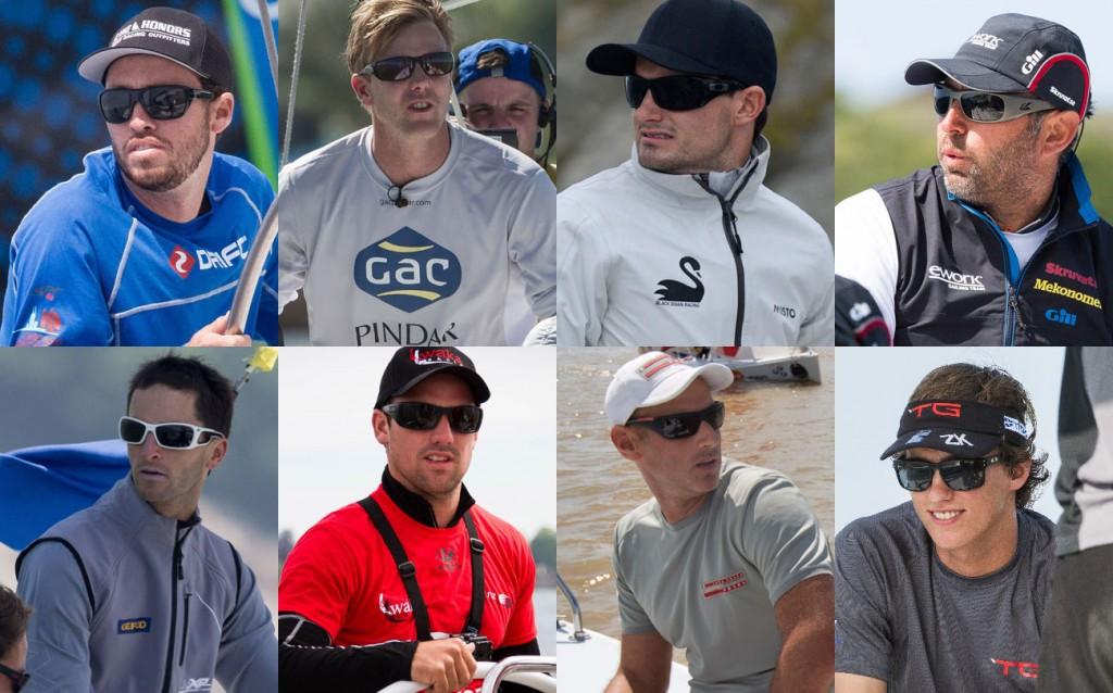 Gli otto skipper del World Match Racing Tour