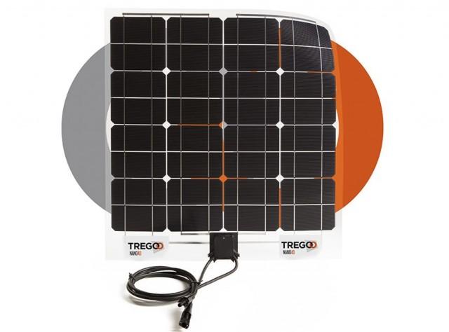 Il pannello solare Nano40 della Tregoo, ideale per l'utilizzo in barca, camper o casa