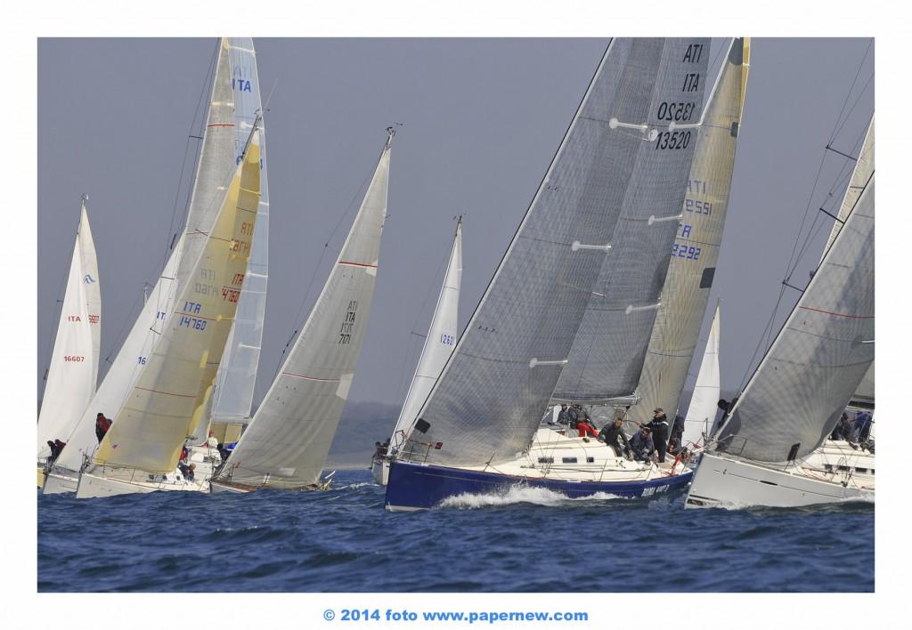 La flotta dell'Altura in regata ad Anzio