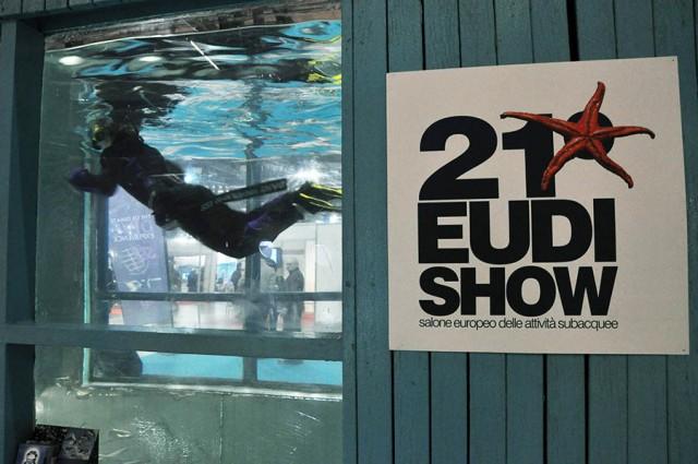 Dal 14 al 17 marzo si svolge la XXII edizione di Eudishow, la fiera dedicata al mondo della subacquea. Nella foto l'edizione dell'anno precedente, tenutasi a Milano
