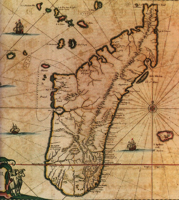 Una carta nautica di Île-à-vache del XVII secolo