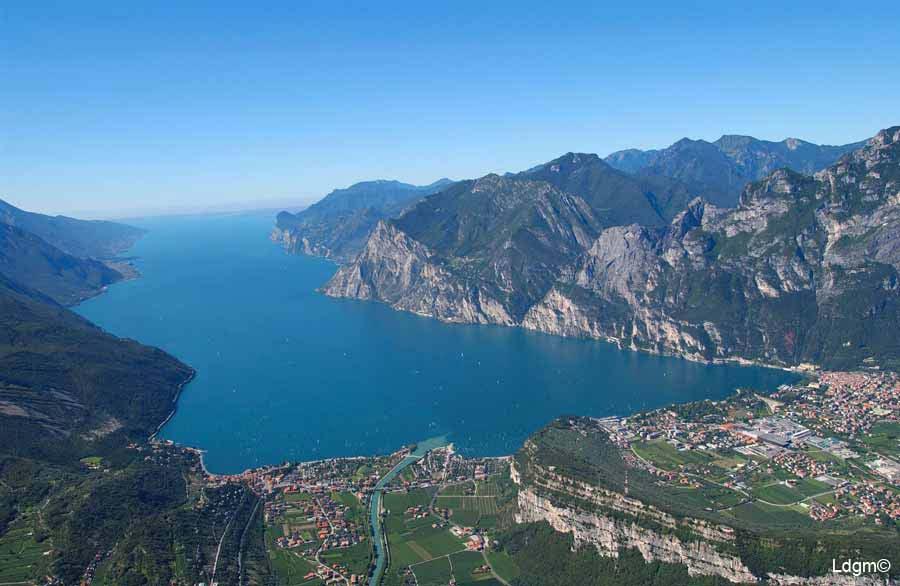 Il Lago di Garda visto da nord