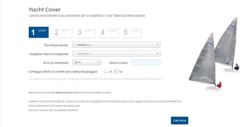 Intuitivo e semplice il format per richiedere il preventivo assicurativo
