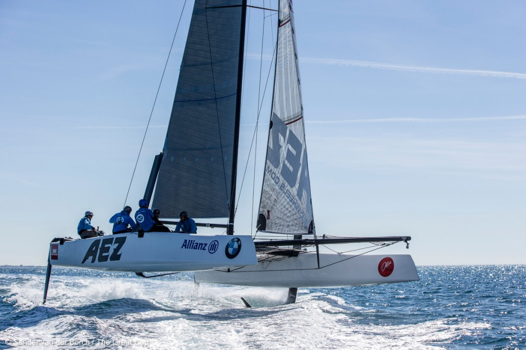 Launch of the GC32 with the new L-foils and T-rudders