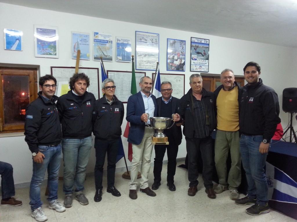 L'equipaggio di Exprivia Luduan Reloaded alla premiazione