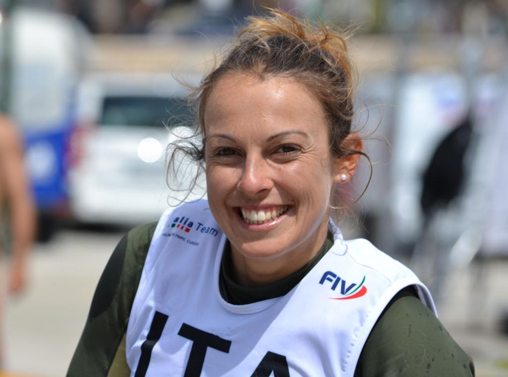 Flavia Tartaglini sorride, la medal race è sua. Foto Richelmy/Ufficio Stampa FIV