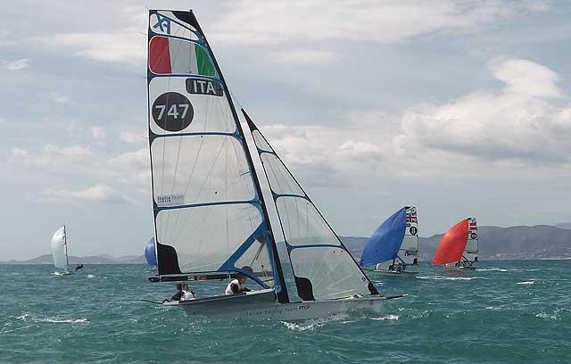 Conti-Clapcich oggi durante race 12