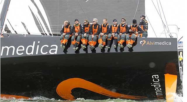 Team Alvimedica, prime miglia sul VO65. Foto Roman