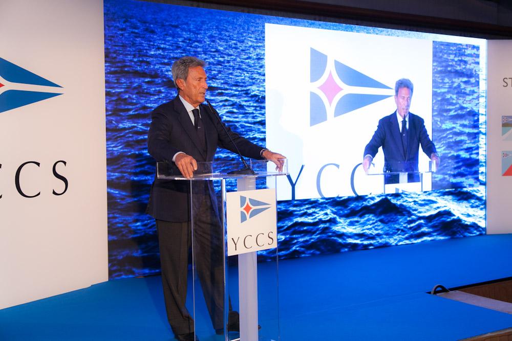 Il commodoro dello YCCS Riccardo Bonadeo alla presentazione di oggi a Milano