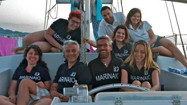 Il team di Mediterranea che compirà il giro del Mediterraneo per cinque anni a scopi culturali, nautici e scientifici