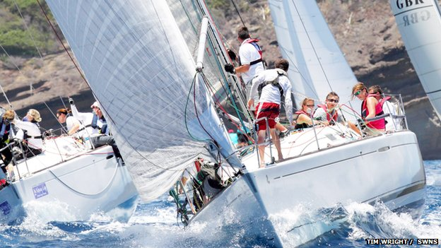 Il 40.7 all'Antigua Sailing Week. Foto