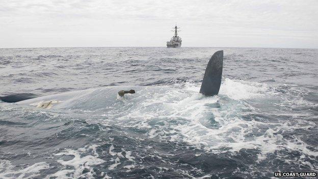 Il relitto del First 40.7. Foto US Coast Guard
