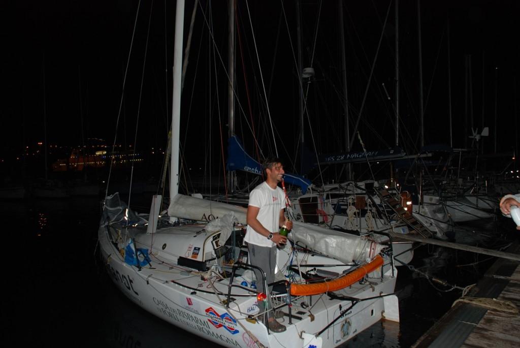 Michele Zambelli all'arrivo