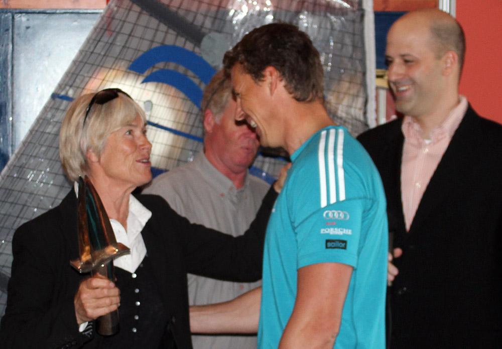 Il campione in carica Vasilij bogar durante la cerimonia di apertura di oggi a La Rochelle. Foto Deaves