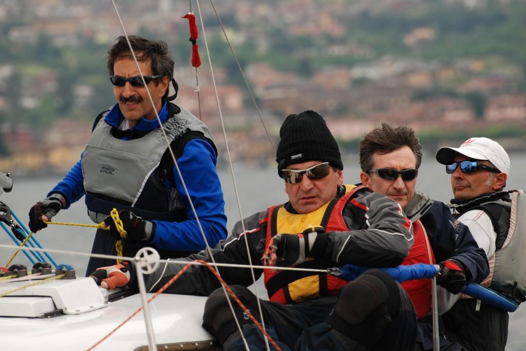 L'equipaggio vincitore di La Pulce d'acqua
