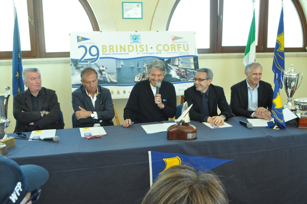 Un momento della presentazione della Brindisi-Corfù