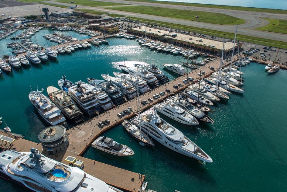 Vista aerea del Marina Genova Aeroporto