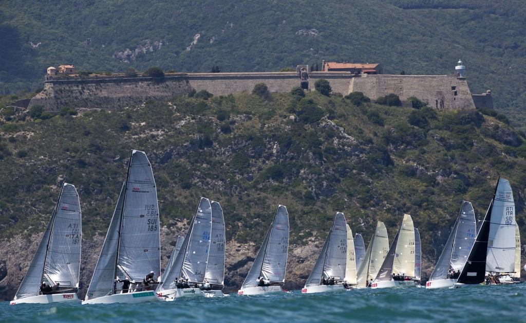 Melges 20 a Porto Ercole. Foto Borlenghi