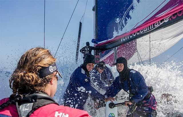 Team SCA durante la traversata atlantica di ritorno. Foto Corinna Halloran/Team SCA