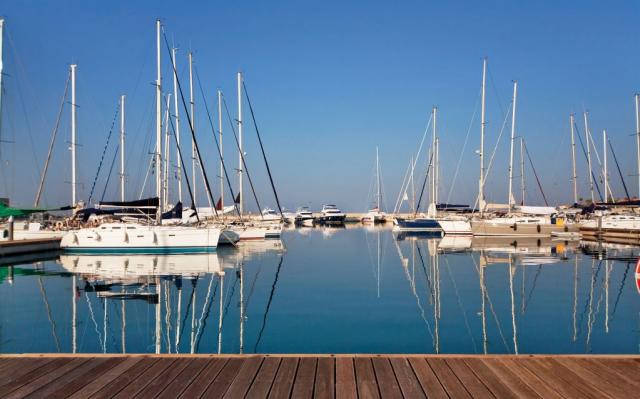 Il marina può ospitare 723 barche fino a 50 metri di lunghezza