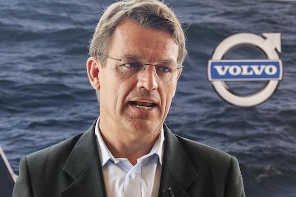 Knut Frostad alla conferenza di oggi. Foto Volvo Italia