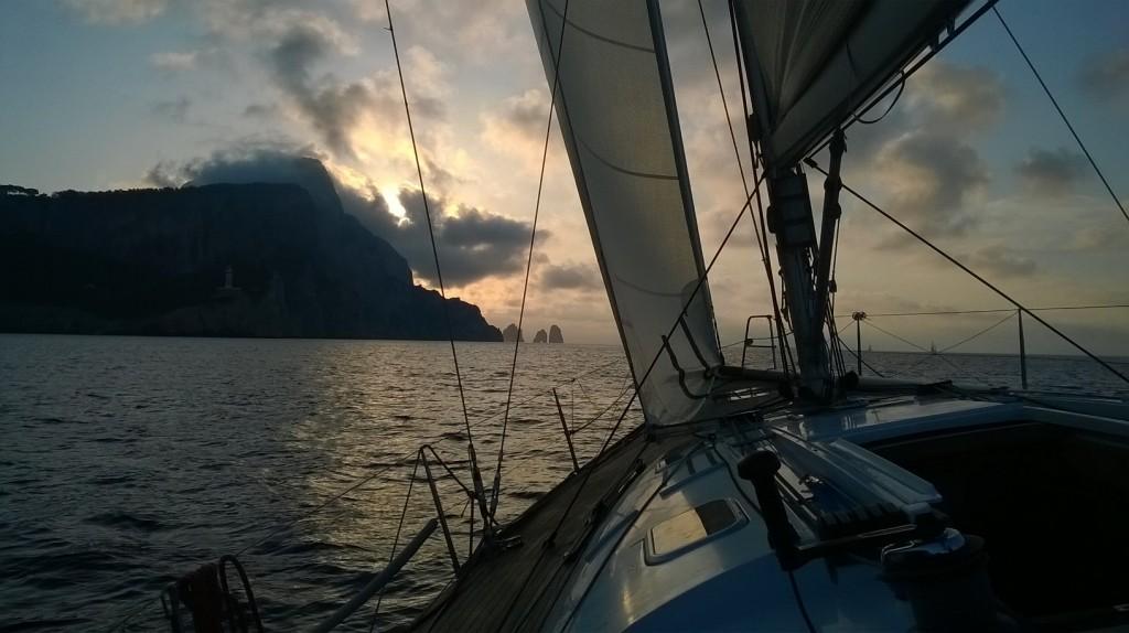 Voscià al passaggio da Capri. Foto Giuffré